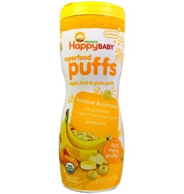 baby store in Canada - HAPPY BABY HAPPY BABY ORGANIC SUPERFOOD PUFFS