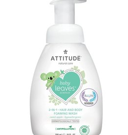 baby store in Canada - ATTITUDE ATTITUDE BABY SHAMPOO AND BODY FOAMING WASH 295ML