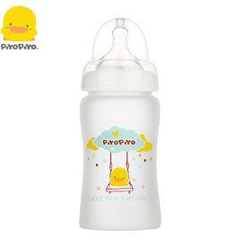 baby store in Canada - PIYO PIYO PIYO PIYO SILICONE WIDE NECK GLASS BOTTLE