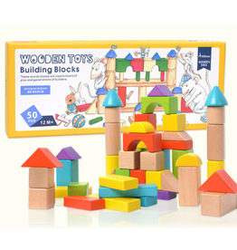 baby store in Canada - MIDEER WOODEN TOYS BUILDING BLOCKS 50PCS