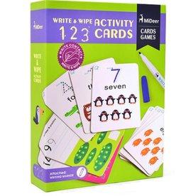 MIDEER MIDEER WIPE AND WRITE ACTIVITY 123 CARDS