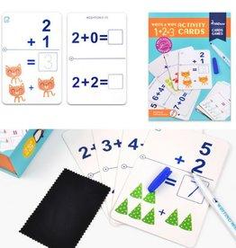 MIDEER MIDEER WIPE AND WRITE ACTIVITY 1+2=3 CARDS