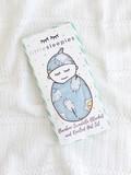 baby store in Canada - LITTLE SLEEPIES LITTLE SLEEPIES BLUE BREAKFAST BUDDIES BAMBOO VISCOSE SWADDLE + HAT SET