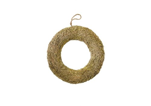 Sparkle Straw Wreath Gold