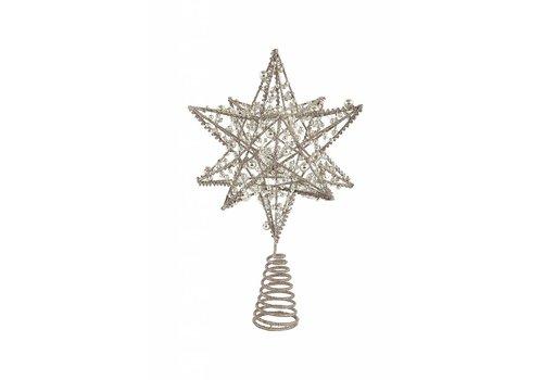 Wire Star Tree Topper- Silver finish