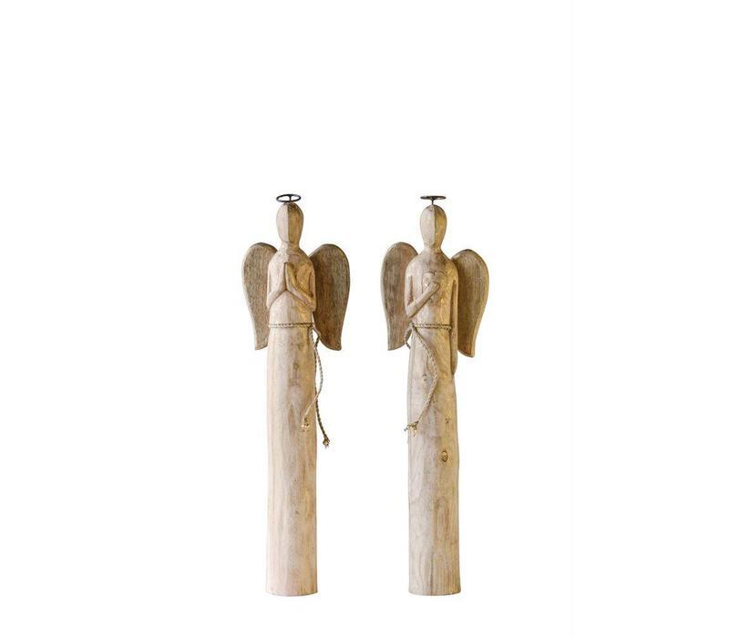 Hand-Carved Mango Wood Angel