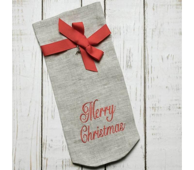 Merry Christmas Wine Bag