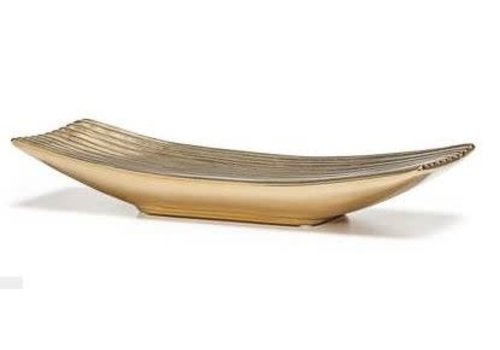 Thena Ceramic Platter Gold