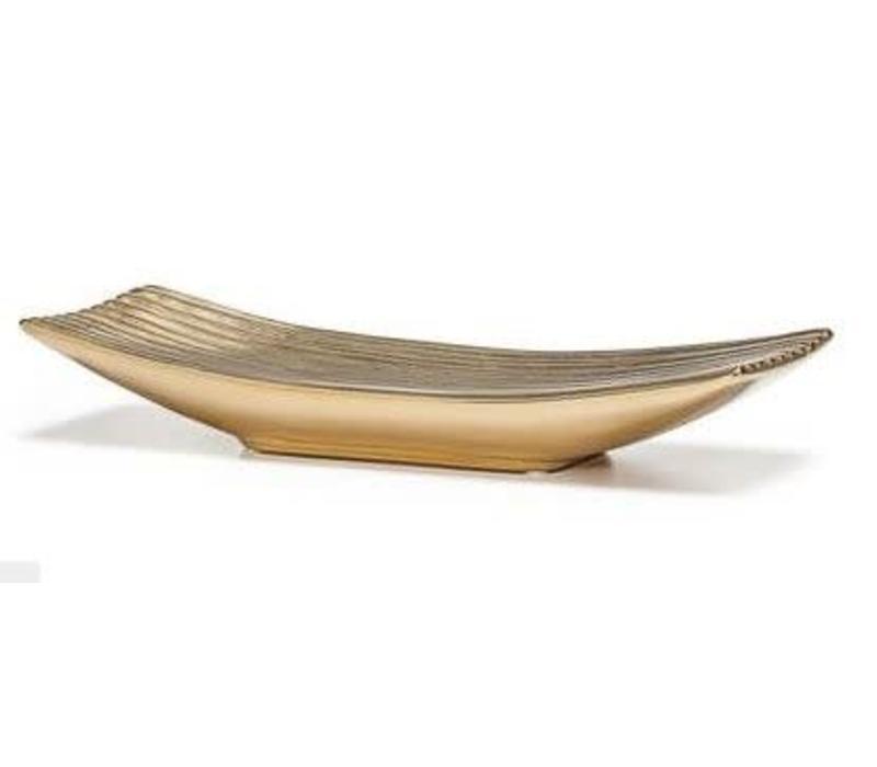 Thena Ceramic Platter Gold