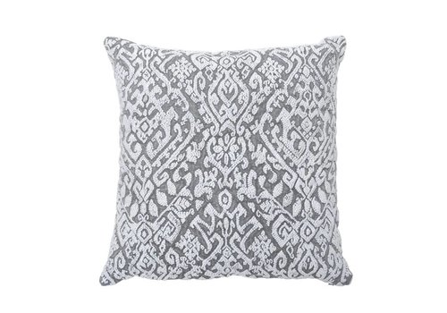 Wisteria Grey Pillow 22 x 22