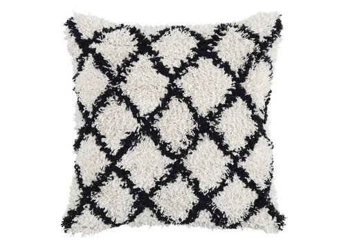 Baraza Black/Ivory Pillow 22 x 22