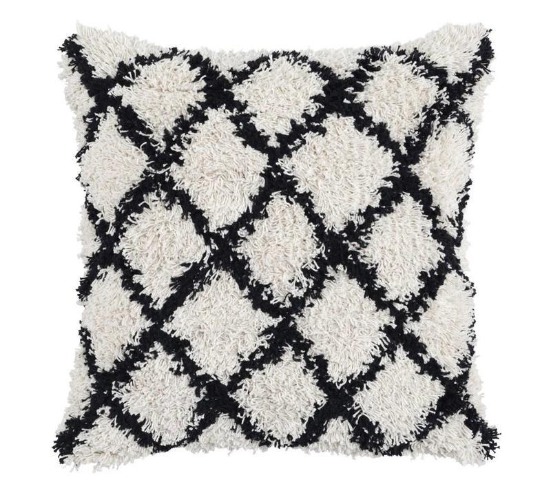 Baraza Black/Ivory Pillow 22 x 22