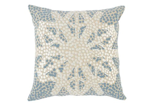 Radiant Snowflake Pillow 18x 18