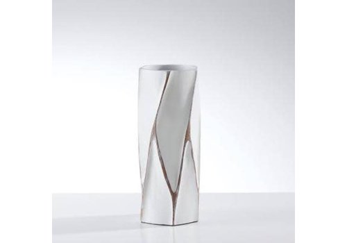 Machado Carved Resin Short Vase-white