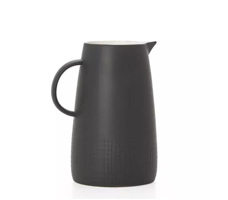 Avant Imprint Black Ceramic Pitcher