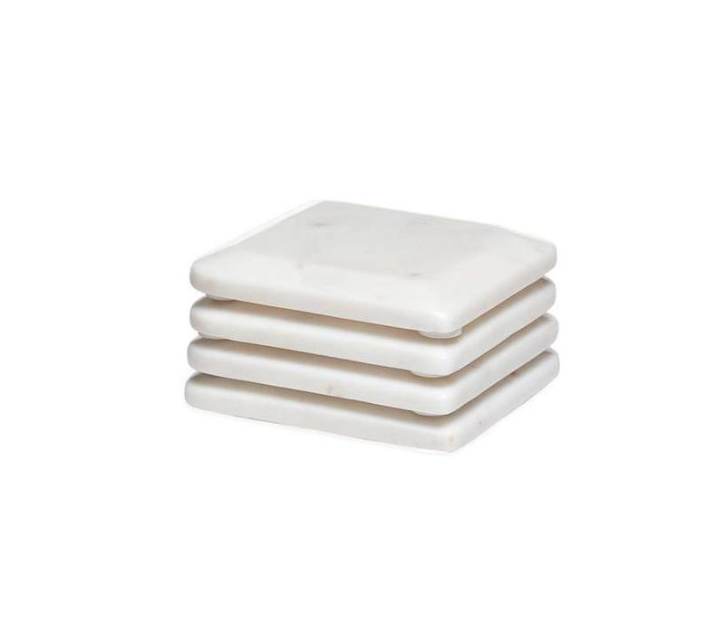 Rounded Square Marble Coasters (set of 4)