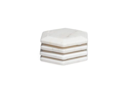 Hexagon Marble Coasters (set of 4)