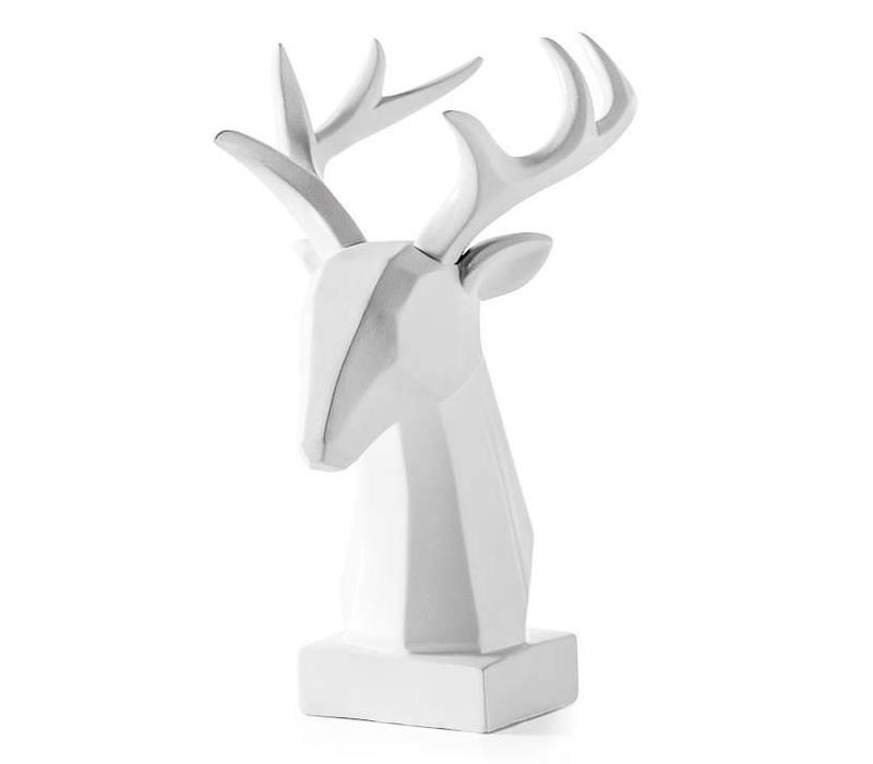 Carved Angle Stag Head
