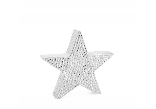 "Bold Hammered Ceramic 8.5"" Star Sculpture"