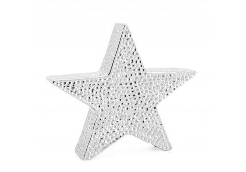 "Bold Hammered Ceramic 10"" Star Sculpture"