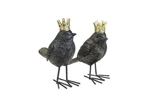 Rust Bird with Crown (matte)