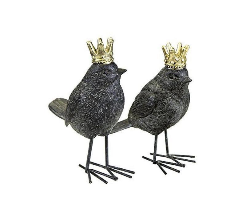 Rust Bird with Crown (matte)