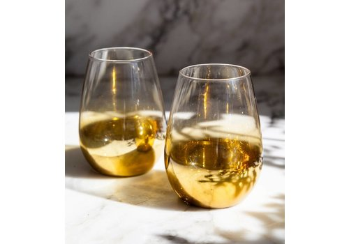 Gold Fade Wine Glass