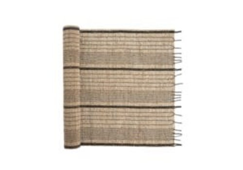 Indaba Seagrass Table Runner charcoal