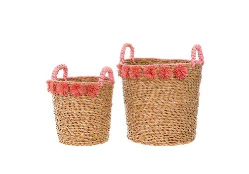 Cosimo Seagrass Basket Coral S