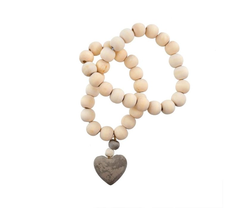 Heart Wooden Prayer Beads S