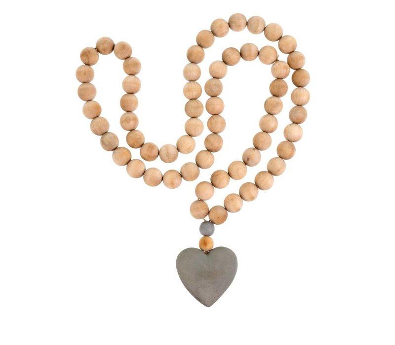 Heart Prayer Beads Large