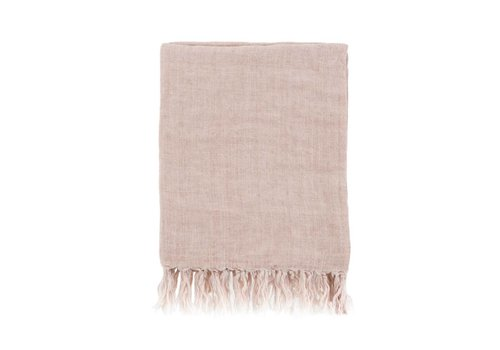 Lina Linen Throw Dusty Rose