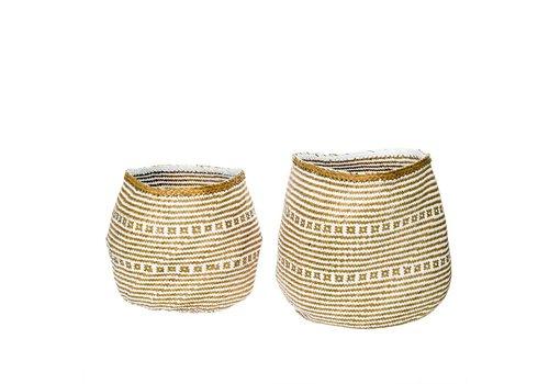 Laysan Seagrass Basket White L