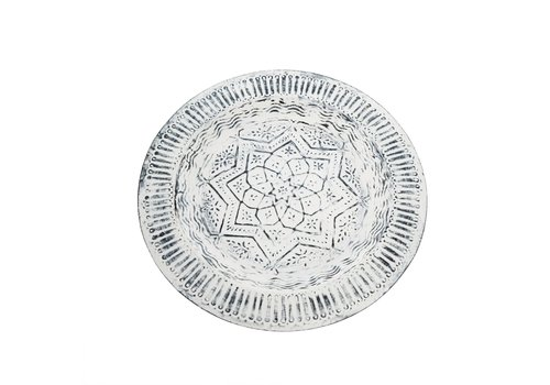 Fez Decor Tray Whitewash