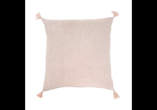 "Nori Linen Cushion Pink 20x20"""