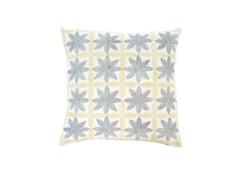 Palm Block Print Cushion 20 x 20