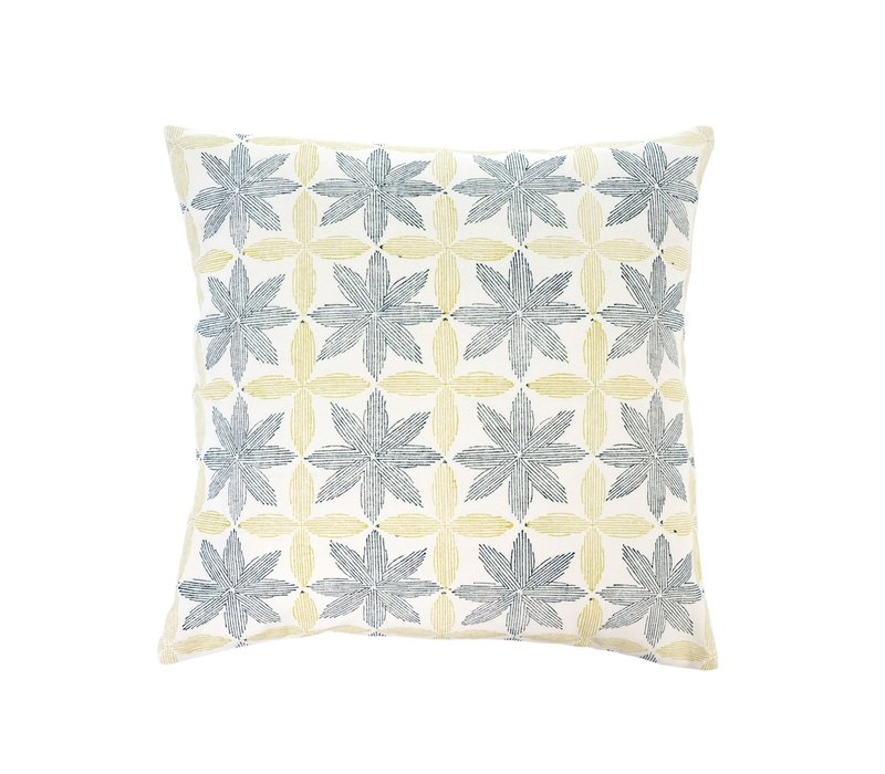 Palm Block Print Cushion 20x20""