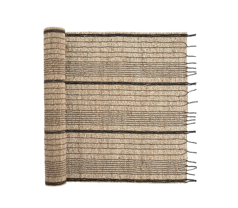 Seagrass Table Runner Charcoal