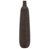"Colombo Ribbed Resin 26"" Vase brown"