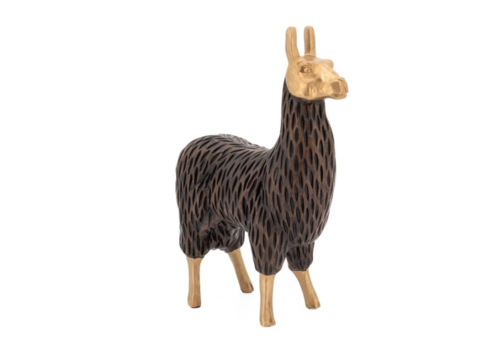 Gold Tipped Standing Llama