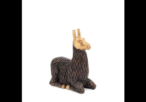 Gold Tipped Sitting Llama