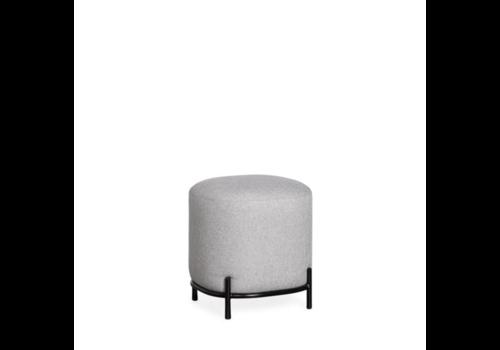 Pender Pin Leg Upholstered Stool Grey