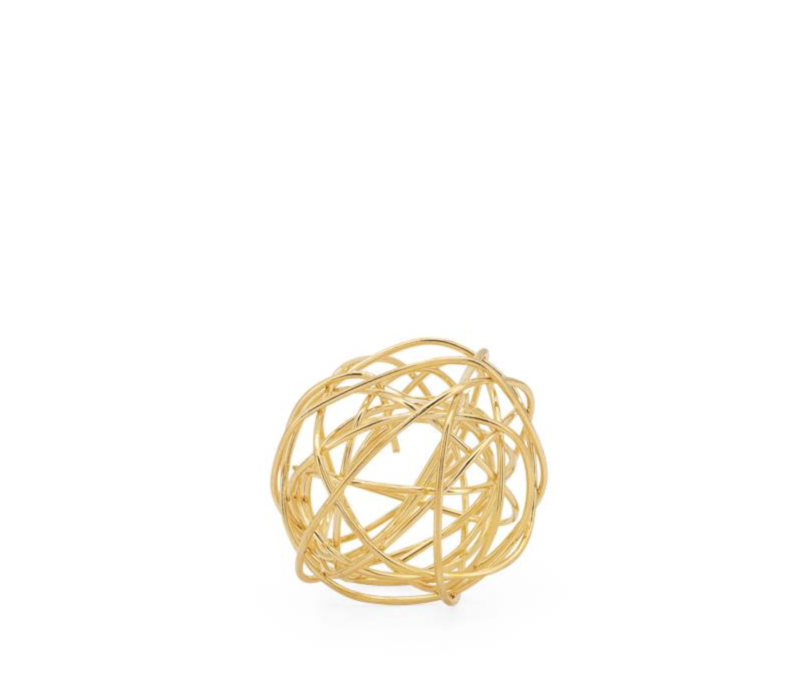 "Spiral 3"" Wire Ball Gold"