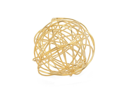 "Spiral 4.5"" Wire Ball Gold"