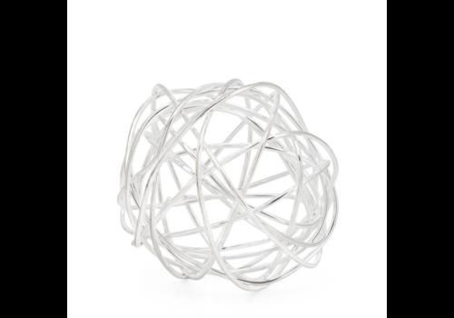 """Spiral 3"""" Wire Ball Silver"""
