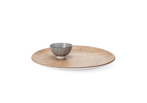 Kento Round Wooden Tray