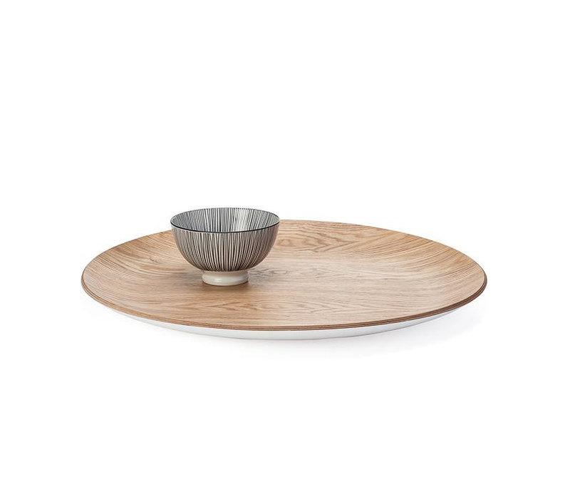 Kento Round Wooden Tray