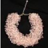 Crystal Bead Cluster Pink Necklace
