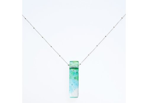 Mosaic Stiletto Sterling Necklace - Confetti