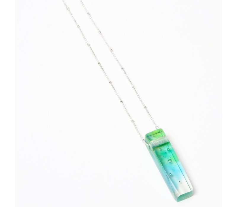 Mosaic Stiletto Sterling Necklace - Confetti
